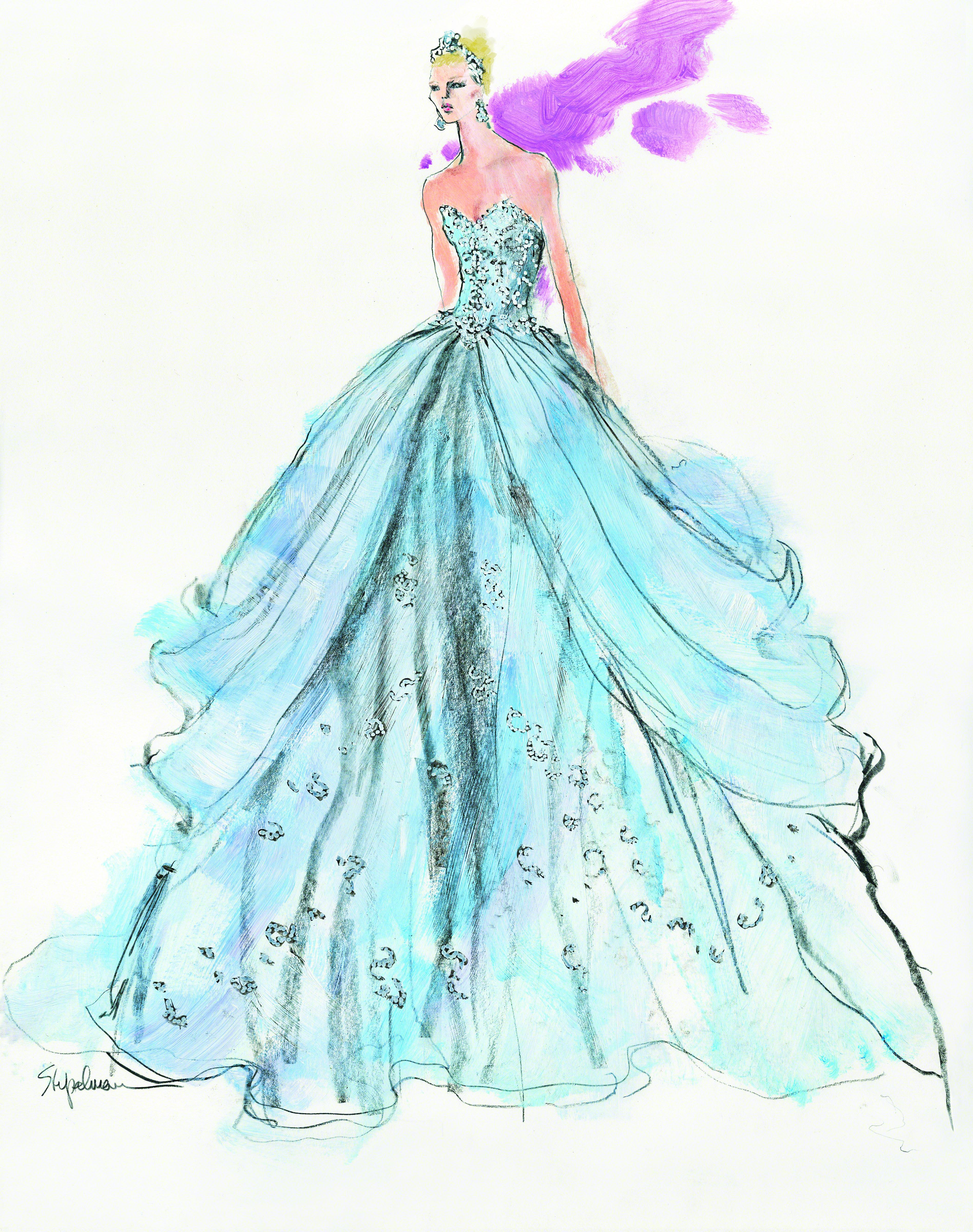 Unique Bridal Gown Sketches Ideas - All Wedding Dresses ...